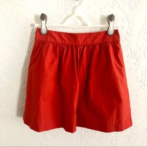 Banana Republic Gathered Cotton Skirt Red Poppy 2P